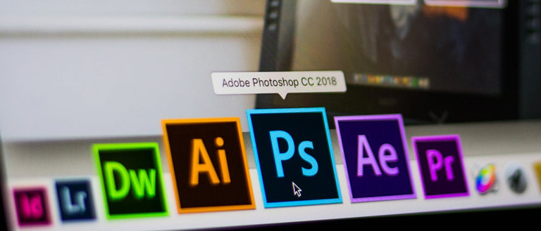 adobe photoshop icon close up