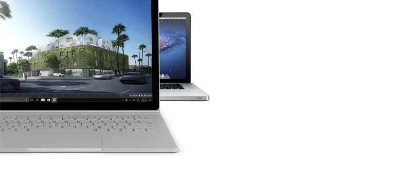 microsoft surface book 2 on white background