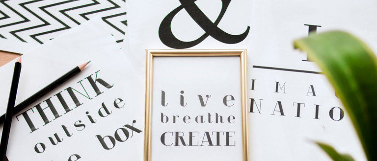 prints with different typography