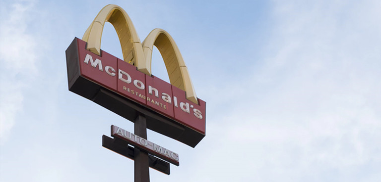 branding and webdesign: macdonalds sign