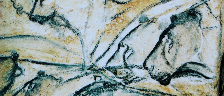 Lions painting, Chauvet Cave