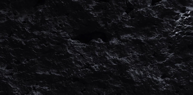 close up of a black stone surface