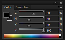 rich black setting in adobe photoshop