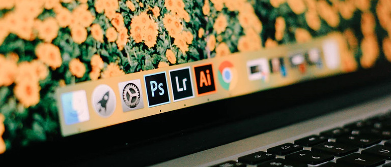 close up of a Photoshop icon