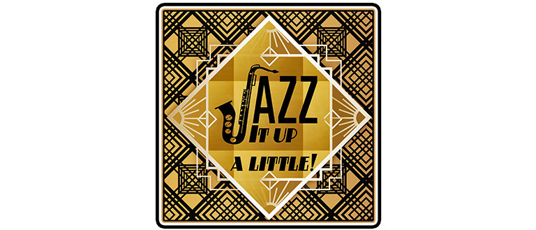 art deco style flyer design for a jazz club