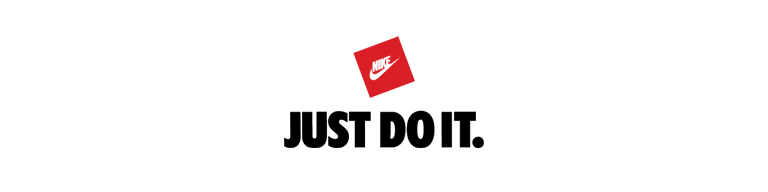 nike logo with slogan