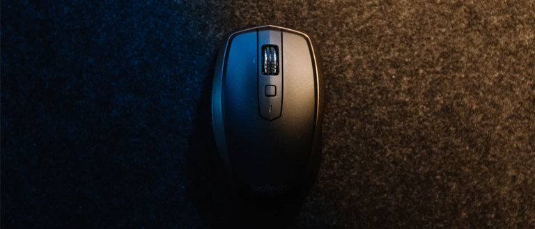wireless mouse on a soft surface