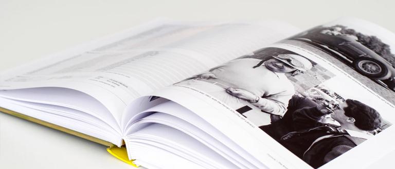 photos in a book
