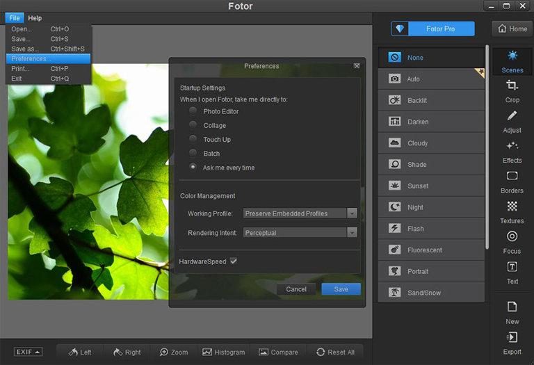 fotor interface