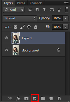 Create new fill or adjustment layer