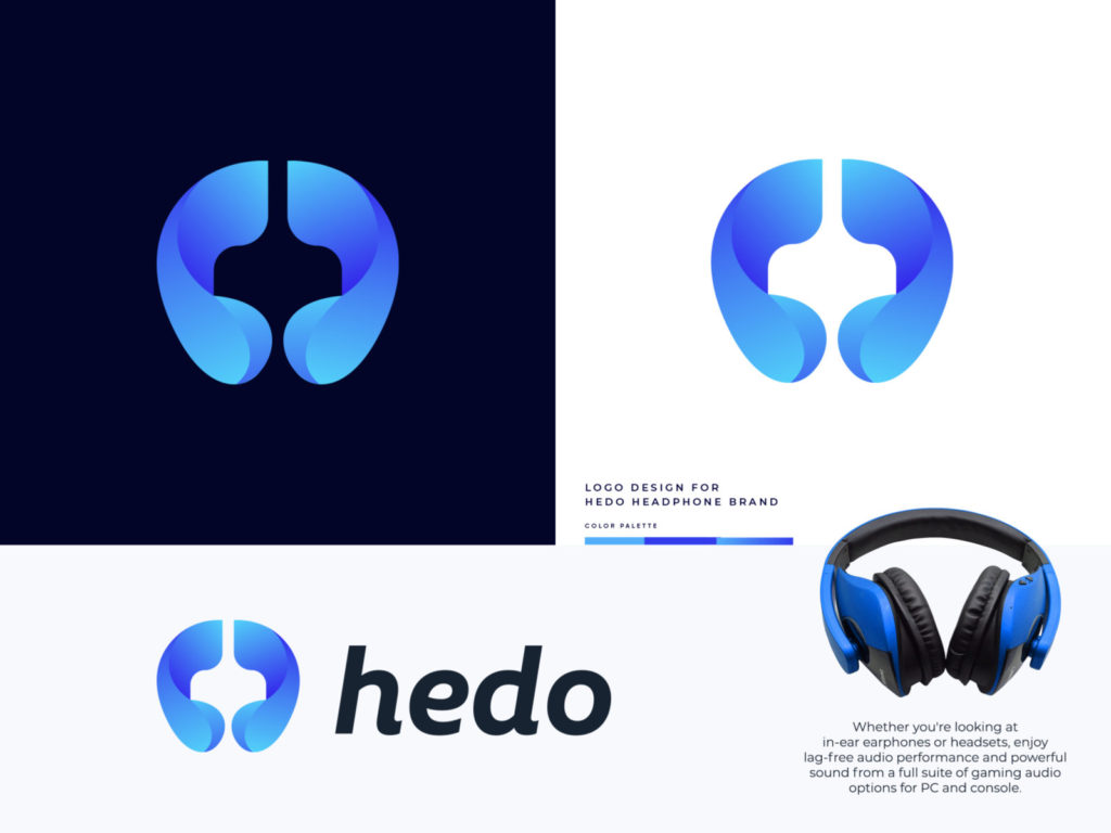 Hedo - Headphone Brand Logo Design by Md Rasel