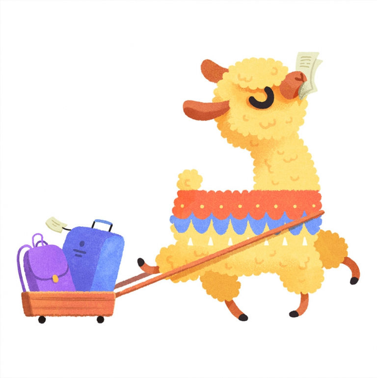 alena tkach - alpaca illustration
