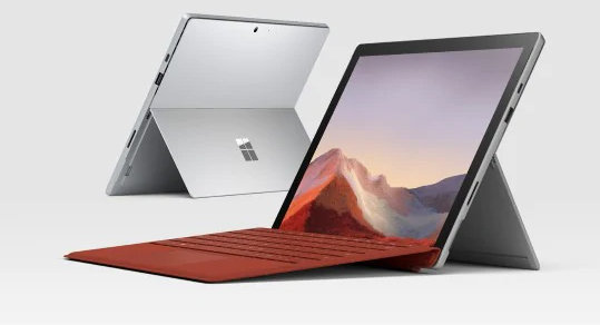 front and back of microsoft surface pro 7