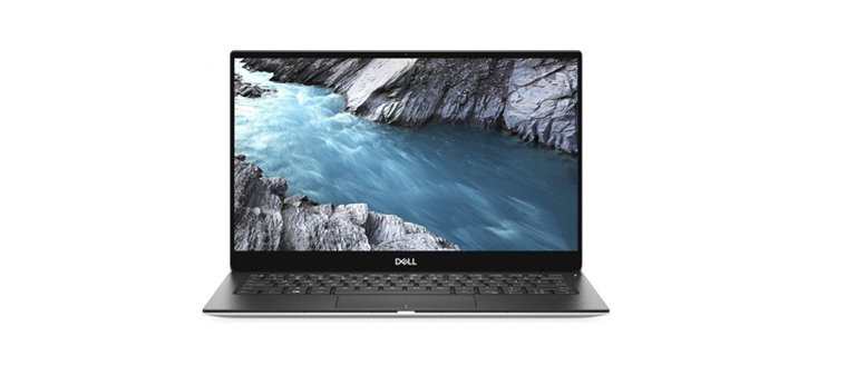 dell xps 13 on white background