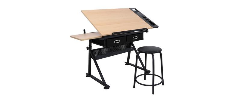 ZENY Height Adjustable Art Desk